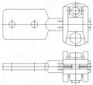 Зажим аппаратный штыревой АШМ-16-1