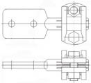 Зажим аппаратный штыревой АШМ-16-2